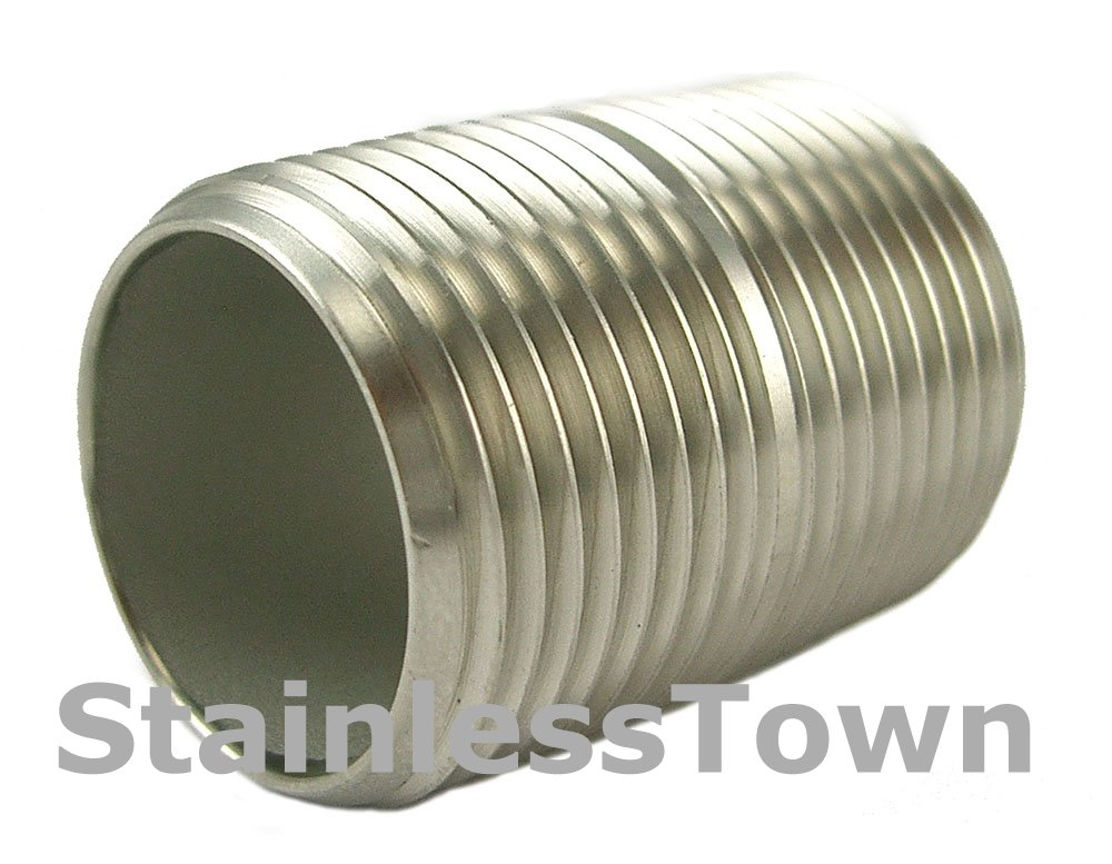 "Stainless Steel Pipe Nipple 3//8/"" x 4/"" Type 304 18-8"