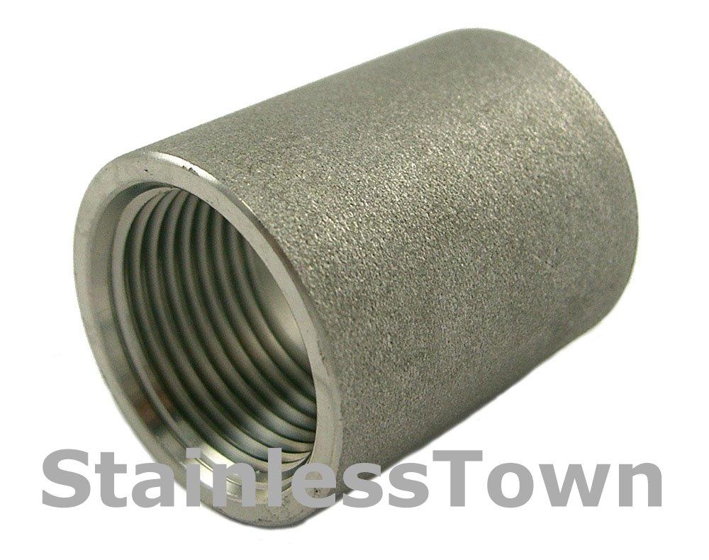 "Stainless Steel Threaded Pipe Tee 1//4/"" Type 304 18-8 StainlessTown"